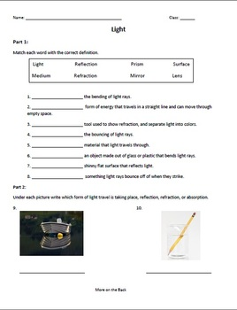 Worksheets Refraction Worksheet reflection and refraction worksheet photos pigmu