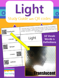 Light Vocabulary Study Guide with QR Codes