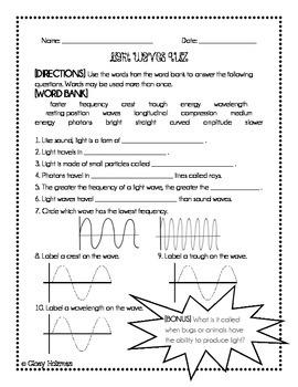 Light Waves Quiz