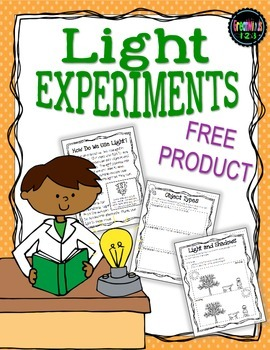 Light Waves - experiments and informational text {FREEBIE}