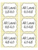 Light Yellow Chevron AR Book Bin Labels