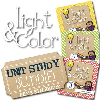 Light and Color Unit Study- Bundled for Multiple Ages