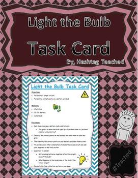 Light the Bulb Science Task Card Activity