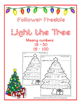 Light the Tree Fill in the Missing Numbers Follower Freebie