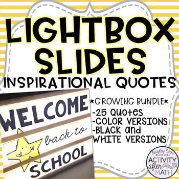 Lightbox Slides Inspirational Quotes