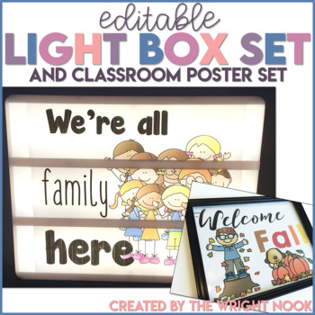 Light Box and Classroom Poster Set