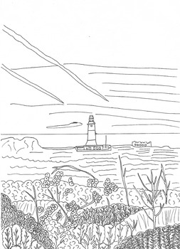Lighthouse Colouring In Sheet Number Two