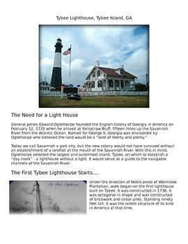 Lighthouses (Tybee Island and Cumberland Island)