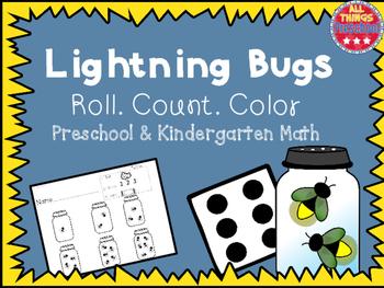 Lightning Bug Preschool & Kindergarten Math: Roll, Count, Color