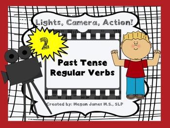 Lights, Camera, Action! 2: Past Tense Regular Verbs Lesson