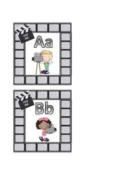 Movie Theme Guided Reading Labels