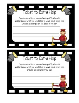 Movie Theme Ticket to Extra Help