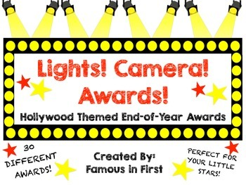 Lights! Camera! Awards! A Hollywood Themed End of Year Awa