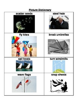 Like a Windy Day by Frank Asch: Verbs and Nouns