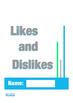Autism Social Skills Worksheets, Likes and Dislikes, Speec