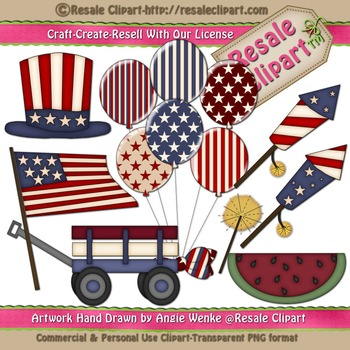 Lil Patriotic 1 ClipArt - Commercial Use