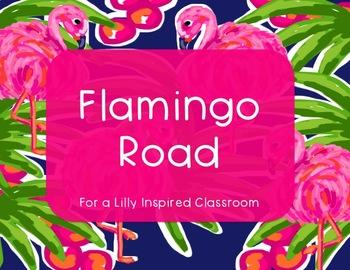 Lilly Inspired Flamingo Classroom Decor