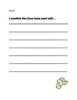 Lima Bean Prediction Writing Prompt