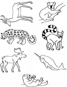 Alphabet Animal Clip Art I-O