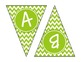 Lime Green Chevron Alphabet Banner Set (upper & lowercase,