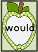 Lime Green Dot Apple Dolch Second Grade Sight Word Flashca