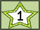 Lime Green Dot Star Full Page Number Posters 0-100