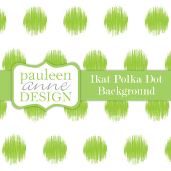 Lime Green Ikat Polka Dot Background