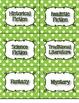 Lime Green Polka Dot Genre and AR Classroom Library Kit -