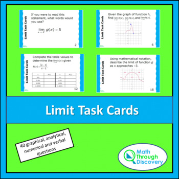 Limit Task Cards