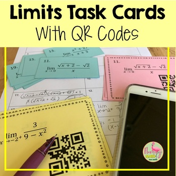 Calculus: Limits Task Cards With QR Codes