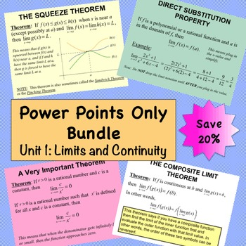 Limits and Continuity Power Points Only Bundle