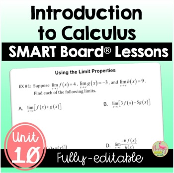 PreCalculus: Intro to Calculus SMARTBOARD Lessons Bundle