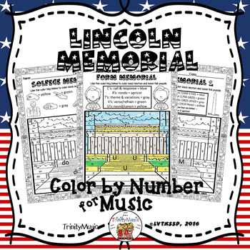 Lincoln Memorial Color By Number (Music)