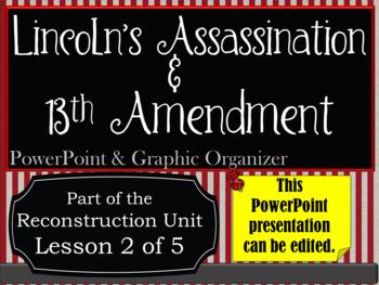 Lincoln's Assassination & Thirteenth Amendment PowerPoint