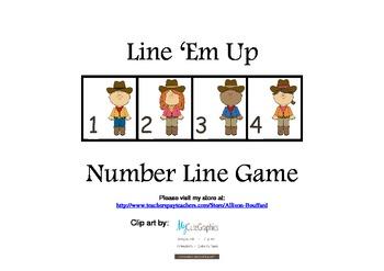 Line 'Em Up Number Line Game 1-20