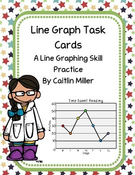 Line Graph Task Cards Freebie