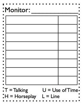 Line Monitor Checksheet