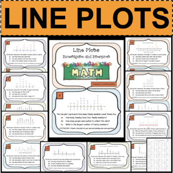 Line Plots Investigations Task Cards Data Analysis Charts