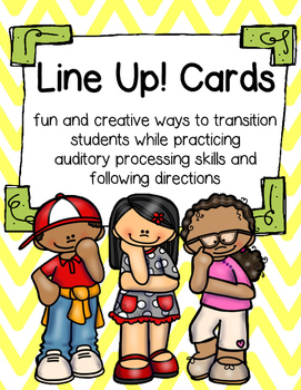 Line Up! Cards: Following Auditory Directions by BusyBeeinGradeThree