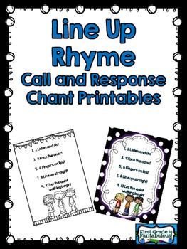 Line Up Rhyme Chant {FREEBIE}