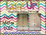 Line Up Vinyl Dots {Line Leader/Door Holder}
