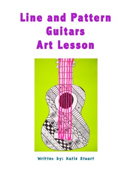 Line and Pattern Guitars Art Lesson!!