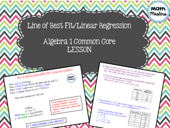 Line of Best Fit/Linear Regression