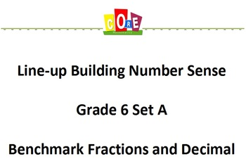 Common Core-Building Number Sense Grd 6 Card Set Benchmark
