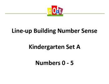 Common Core-Building Number Sense Kindergarten Card Set 0 - 5