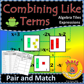 Combining like terms - Equivalent expressions Using Algebr