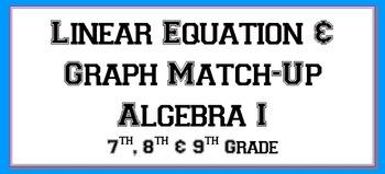 Linear Equation & Graph Match-Up