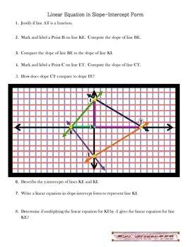 Linear Equation in Slope-Intercept Form
