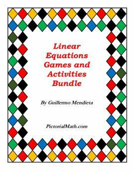 Graphing /Solving Linear Equations: Collection of Games an