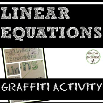 Linear Equations Graffiti activity